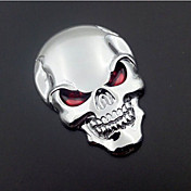 オートバイ車のオートロゴ3Dメタルエンブレムバッジデカールスケルトン頭蓋骨ステッカー