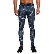 Vansydical® Hombre Pantalones ajustados de running Camiseta interior Transpirable Materiales Ligeros Medias/Mallas Largas