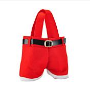 熱い販売のファッションクリスマスサンタのパンツエルフ精神キャンディーバッグクリスマスデコレーション袋かわいい子ギフト柔らかい布赤