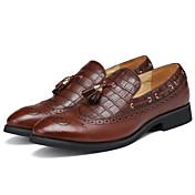 Hombre Zapatos Semicuero Primavera Verano Otoño Invierno Confort Zapatos formales Zapatos de taco bajo y Slip-On Para Casual Fiesta y