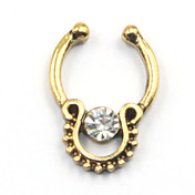Mujer Joyería Corporal Piercings para nariz Piercing de naríz Acero inoxidable La imitación de diamante Diseño Único Moda JoyasDorado
