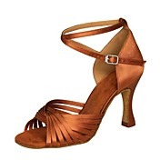 Sapatos de Dança (Preto / Marrom / Prateado / Dourado / Fúcsia / Outro) - Feminino - Não Personalizável -Latina / Salsa / Samba /