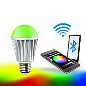 7W E26/E27 Bombillas LED Inteligentes A60(A19) RGB 5050 5PCS,2835 10 PCS SMD 5050
