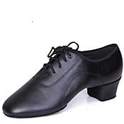 Zapatos de baile ( Negro ) - Latino - No Personalizables - Tacón Bajo