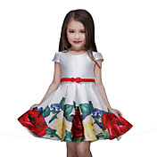 Vestido Chica deFloral-Poliéster-Verano-Multicolor