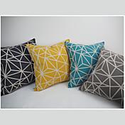 Algodón/Lino Cobertor de Cojín / Funda de almohada , GeométricaModerno/Contemporáneo / Tradicional / Casual / Retro / Oficina/ Negocios /