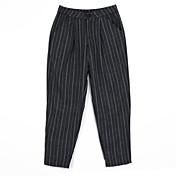 De las mujeres Pantalones Ancho-Vintage Rígido-Poliéster
