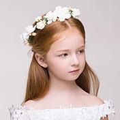 Niña de flor Tejido Plástico Celada-Boda Ocasión especial Al Aire Libre Coronas 1 Pieza