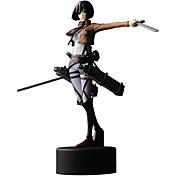 Anime Čísla akce Inspirovaný Attack on Titan Mikasa Ackermann PVC 14 CM Stavebnice Doll Toy