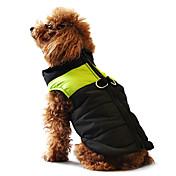 犬用品 コート ベスト レッド オレンジ イエロー グリーン ブルー ブラック ピンク 犬用ウェア 冬 春/秋 カラーブロック カジュアル/普段着 保温