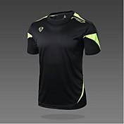 Hombre Camiseta para senderismo Secado rápido Resistente a los UV Transpirable Suave Materiales Ligeros Reductor del Sudor Suavidad