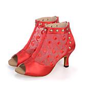 Moguće personalizirati-Ženske-Plesne cipele-Trbušni / Latino / Jazz / Plesne tenisice / Moderni / Samba / Cipele za swing-Saten / Čipka /
