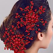 pentes de cabelo da flor pérola jóias das mulheres para festa de casamento