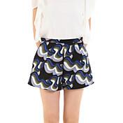 De las mujeres Pantalones Cortos-Casual Rígido-Poliéster / Licra