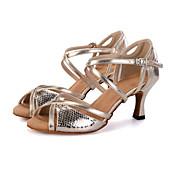 Zapatos de baile(Plata / Oro) -Danza del Vientre / Latino / Jazz / Zapatillas de Baile / Moderno / Samba / Zapatos de Swing-