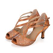 Zapatos de baile(Negro / Marrón / Verde) -Danza del Vientre / Latino / Jazz / Zapatillas de Baile / Moderno / Samba / Zapatos de Swing-