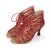 Zapatos de baile(Negro / Rojo / Plata) -Danza del Vientre / Latino / Jazz / Zapatillas de Baile / Moderno / Samba / Zapatos de Swing-