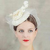 joyería de sombrero de la flor del cordón velo frente del pelo del tocado de la mujer para la fiesta de la boda