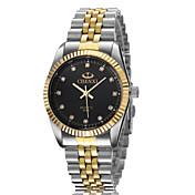 Pánské Náramkové hodinky Křemenný Slitina Kapela Zlatá Bílá Černá Zlatá