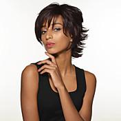 スタイリッシュなセクシーな短い髪型レミ人間の髪の毛の手縛らトップキャップレスの女性のかつら