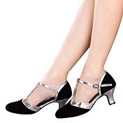 Zapatos de baile(Negro / Marrón / Plata / Oro) -Latino-No Personalizables-Tacón Cubano