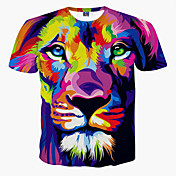Camiseta De los hombres Estampado-Casual / Formal / Deporte / Tallas Grandes-Poliéster-Manga Corta-Morado