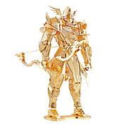 Rompecabezas Puzzles 3D / Puzzles de Metal Bloques de construcción Juguetes de bricolaje Guerrero Metal Dorado Modelismo y Construcción