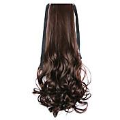 hnědá voda vlna dlouhé kudrnaté vlasy paruka stylu ohon obinadlo Ponytails