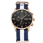 Hombre Reloj de Vestir Cuarzo Calendario / Reloj Casual / Cronómetro Tejido Banda Blanco Marca