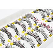 Pestañas Pestaña Pestañas Completas Ojos / Pestaña Entrecruzadas / Grueso Extendido / Denso Hecho a mano Fibra Black Band 0.10mm 11mm
