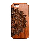 Para Funda iPhone 5 Carcasa Funda Diseños En Relieve Cubierta Trasera Funda Mandala Dura Madera paraiPhone 7 Plus iPhone 7 iPhone 6s Plus