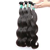 Cabello humano Cabello Malayo Tejidos Humanos Cabello Ondulado Grande Extensiones de cabello 4 Piezas Negro