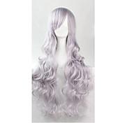 Mujer Pelucas sintéticas Hecho a Máquina Rizado Plata Las pelucas del traje