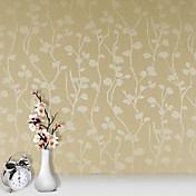 Floral / 3D Fondo de pantalla Para el hogar Contemporáneo Revestimiento de pared , PVC/Vinilo Material adhesiva requerida papel pintado ,
