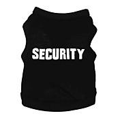 Perros Camiseta Negro Ropa para Perro Verano Primavera/Otoño Letra y Número Adorable Moda