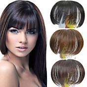 Capless Clip Straight Synthetic Full Bang Multi-Colors