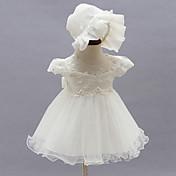 赤ちゃん パーティー フラワー ポリエステル,ドレス オールシーズン ホワイト
