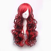 Mujer Pelucas sintéticas Sin Tapa Rizado Rojo Pelo Ombre Peluca de cosplay Peluca de Halloween Peluca de carnaval Las pelucas del traje