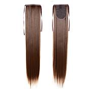 長いポニーテールextentions 22inch 55センチメートル100グラム#16合成巾着ポニーテールの長い絹のようなストレートポニーテール