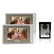 """tmax®7 """"LCDは500TVLナイトビジョンカメラでビデオドア電話を撮影(2モニターに1カメラ)"""