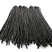 Rastas Croché Faux Dreads Crochet faux dreads Extensiones de Dreadlock Kanekalon Negro Extensiones de cabello 45cm Las trenzas de pelo