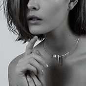 Dámské Obojkové náhrdelníky tetování obojek Perly Ulity Slitina Tetování Módní minimalistický styl Stříbrná Zlatá ŠperkyPárty Denní