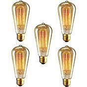 レストランクラブのコーヒーバーのクリニークST64 E27 40ワットの白熱ヴィンテージエジソンの電球が点灯(220-240V)