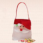 bolsa de caramelos de navidad decoración de las fuentes del partido de santa claus adornos de casa al aire libre 1pc de un solo hombro