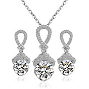 Šperky Náhrdelníky / Küpeler Svatební šperky Soupravy Svatební / Párty 1Nastavte Dámské Stříbrná / Červená Svatební dary