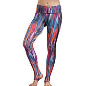 Pantalones de yoga Chándal Transpirable Alta transpirabilidad Compresión Cómodo Cintura Media Alta elasticidad Ropa deportiva Rojo Fucsia