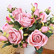 1 1 Větev Polyester Růže Květina na stůl Umělé květiny 37CM
