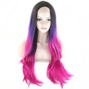 Mujer Pelucas sintéticas Sin Tapa Ondulado Pelo Ombre Con flequillo Peluca de cosplay Las pelucas del traje
