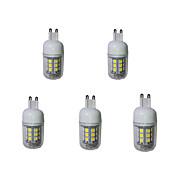 5 G9 LEDコーン型電球 T 27 SMD 5050 380 lm 温白色 / クールホワイト 装飾用 交流220から240 V 5個