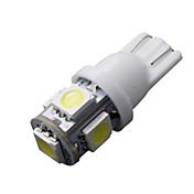 10 ks T10 bílá 168 194 501 W5W 5 SMD LED auto boční klínovitý světlo žárovka 12V DC